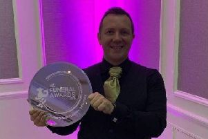 Stevenson Funeral Directors Ltd won four awards at the Scottish Funeral Awards 2019.  Pictured is Barry Stevenson CEO