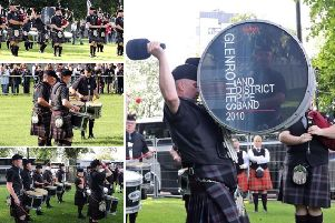 Glenrothes and District Pipe Band 2010 perform at The World Pipe Band Championships. Photos courtesy of 'Pipe Band Photography by Andy Meehan'.
