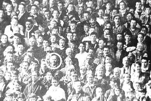 Raith supporters at East End Park on Saturday, August 27th 1994.
