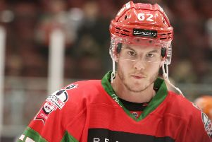 James Livingston won the EIHL Play-off title with Cardiff Devils last season. Pic: Cardiff Devils.