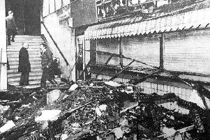 The aftermath of the fire at Kirkcaldy Railway Station
