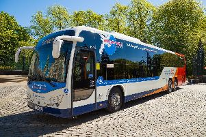 The Express City Connect service has on-board features including free wi-fi access, mobile device charging points, leather reclining seats and air-conditioning