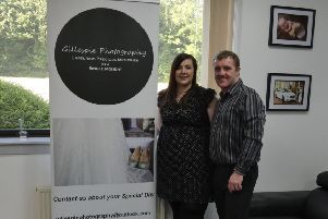 Amanda and Michael Gillespie at the launch of the new photography studio in Glenrothes.