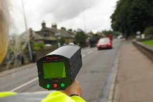 Watching for speeding drivers on Carslogie Road.