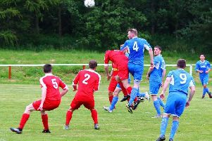 Mark Haddow headed home a corner late on to earn Lanark a point at East Kilbride (Library pic)