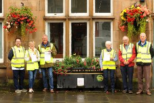 Members of Floral Action Burntisland who are delighted with the accolades won in the Beautiful Fife awards. Pic: Fife Photo Agency