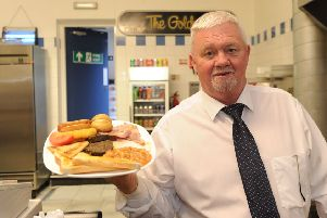 Andy Braid, owner of The Golden Bite cafe, in the west end of Kirkcaldy High Street, has revealed plans to retire. Pic: George McLuskie.