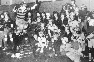 A skateboard session at Kirkcaldy Boys' Club in Linton Lane in January of 1978.