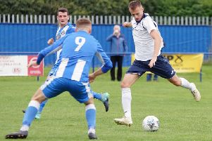 Action from Saturday's match in Penicuik. Pic: George Wallace