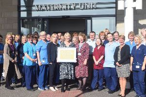 NHSFife maternity service gets gold baby friendly award from UNICEF