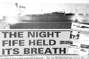 Oil Tanker near miss headline from the Fife Free Press in 1993