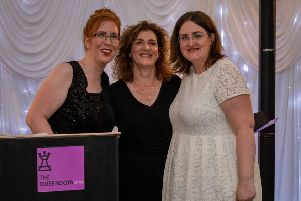 Queen of Kindness - Mandy Richardson (centre) with organisers Cara Forrester and Annie Crow (Pic: Rachel McLean Photography)