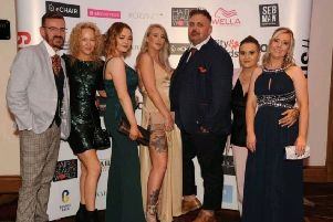 The team at the awards.