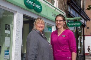 Alison Wright and Kirsty Bidgood, optician at Specsavers, St Andrews