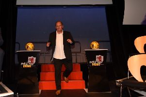 Jim Dempsey appeared as a guest on stage at the 2015 Raith Hall of Fame.