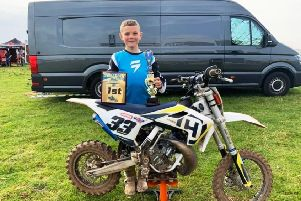 Jaden Anderson of Alford has just won the 65cc ScotMX Scottish Championship on Sunday up in Tain