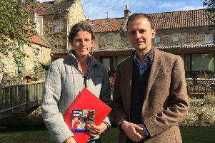 Hilary Lumsden and MP Stephen Gethins.