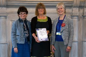 University of St Andrews principal Professor Sally Mapstone and director of Student Services Ailsa Ritchie with Dr Alison Robertson, chairwoman of the Division of Clinical Psychology at the British Psychological Society