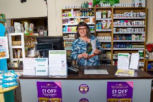 Keren Brynes MacLean at Health Food and More based in St Clair Street, Kirkcaldy.