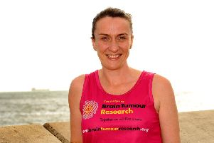 Kellyanne Muir from Kirkcaldy who is running two marathons for Brain Tumour Research. Pic:  Fife Photo Agency.
