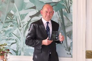 General manager Stephen Owen with the award.