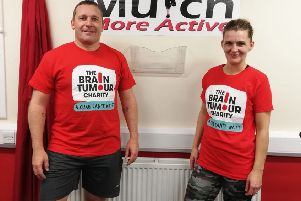 Paul and Julie Wishart are walking 55 miles of Fife Pilgrim Way in aid of The Brain Tumour Charity
