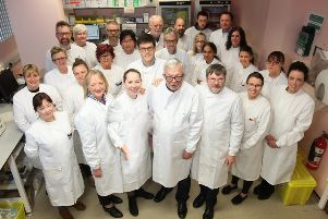 The team from NHS Fife's microbiology labs