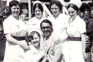Ronnie Corbett at the summer fete organised by  the Friends of Victoria & Whyteman's Brae Hospitals.