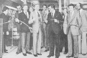 Larry Grayson, star of BBC's Generation Game, officially opens Kirkcaldy Market Hall