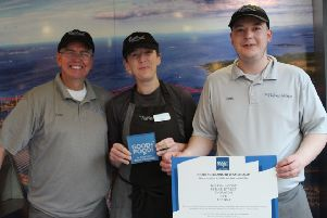 From left  ' Colin Cromar (owner) Vicki Reaney and Craig Hanlon (staff members)