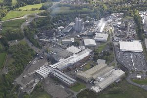 The 130-acre site of the former Tullis Russell paper mill in Glenrothes.