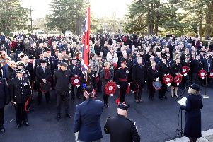 Remembrance Sunday Service in Kirkcaldy last year. Pic:  WALTER NEILSON.