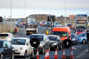 The west end has been gridlocked. Picture: Fife Photo Agency