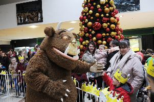 Last year the Gruffalo switched on the centre's Christmas lights, but this year a Magical Christmas Carnival is planned.  Pic: George Mcluskie