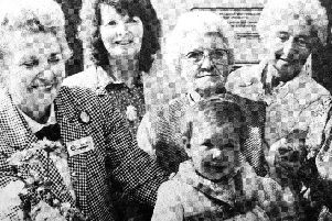 Baby Lorna Carradice at the opening of Kirkcaldy's Barnardo's in 1988.