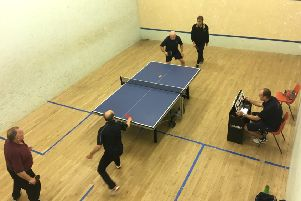 Lundin Lasers in doubles action.