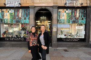 Emma Wheeler and  Louise Canny are launching the  'Friday Street Market'. Pic:  Fife Photo Agency.