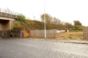 The site  at 92 Nicol Street where flats are planned. Pic:  Fife Photo Agency.