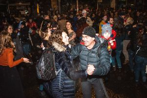 The popular street ceilidh often attracts thousands of people.