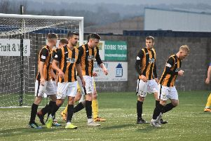East Fife celebrate Anton Dowds' equaliser - but the joy was short lived. Pic by Kenny Mackay.