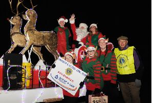 The Lions Club Santa Sleight pictured in  Dec 2017. It is back once again this year. Pic: George McLuskie.
