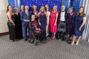 The victorious Anster Allsorts  who were announced Jogscotland Group of the Year. (C) Bobby Gavin.