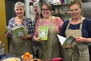 The Ecology Centre have launched their first cookbook called - 'Our Community Cookbook - Your Kitchen'.  The cookbook brings together recipes from staff, volunteers and old favourites that are regularly served up on a Wednesday, the Centre's main volunteering day.   Photo attached showing our kitchen volunteers with the new cookbook. Pictured from left to right: Edwina Gibson, Ruth Kincaid and Bobbie Smith.