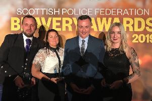 The officers were honoured at a ceremony in Edinburgh recently.