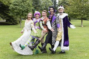 The cast of Jack and the Beanstalk at Adam Smith Theatre. Picture: Tom Illsley.