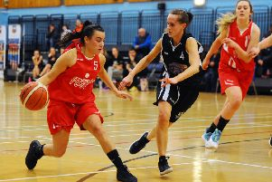 06-12-2019. Picture Michael Gillen. Falkirk Fury Senior Women v Edinburgh Kool Kats. Scottish Cup semi-final.