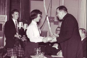 Official opening of St Andrew's High School in Kirkcaldy, 1959.