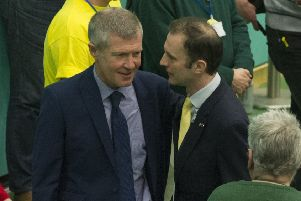 Willie Rennie Lib Dem leader, and Stephen Gethins, SNP, in conversation (Pic: George McLuskie)