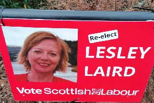 Lesley Laird campaign poster in Kirkcaldy, General Election 2019 (Pic: Fife Free Press)
