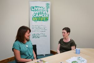Pamela Harrower, Macmillan Fife service user